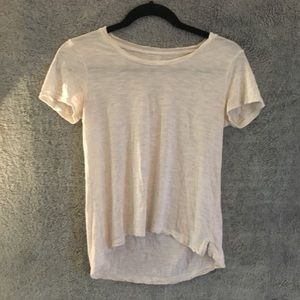 Madewell Cream Burnout High Low Tee